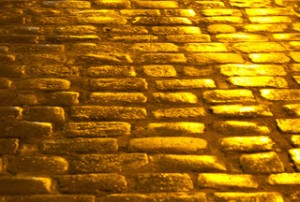 street paved with gold